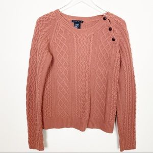 Theory earth orange cashmere sweater